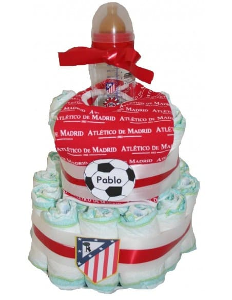 Tarta de pañales Atlético de Madrid