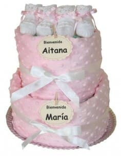 Twins Nappies Cake Patucos