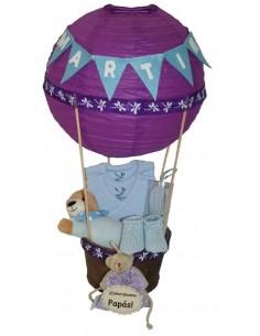 Purple Balloon Basket
