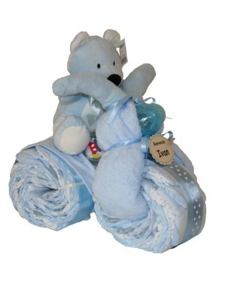 Triciclo de Pañales Azul