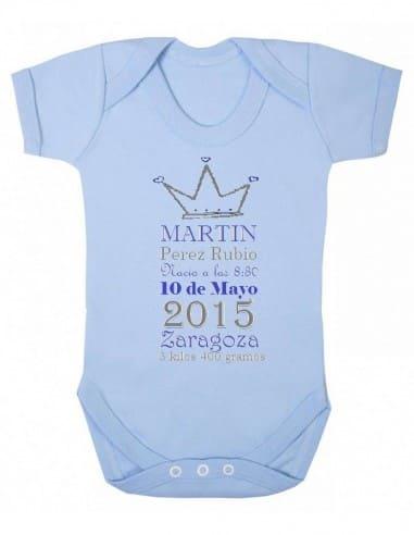 Body algodón orgánico personalizado nacimiento