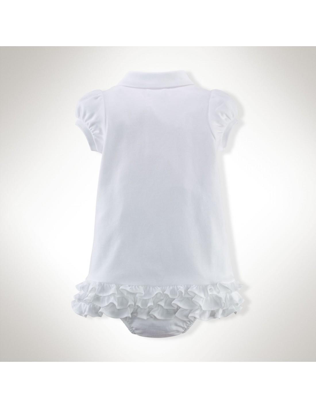 Vestido Ralph Lauren tipo polo en color blanco 972235a20ac