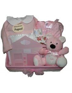 Cesta Chocolat Baby Rosa