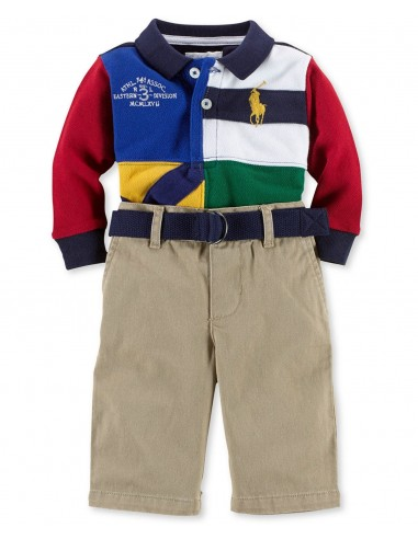 Conjunto de Ralph Lauren 3 piezas: Polo, pantalón y cinturón