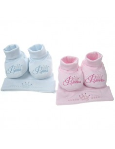 Set cap and botties prince or princess