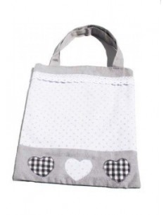 Grey cloth bag