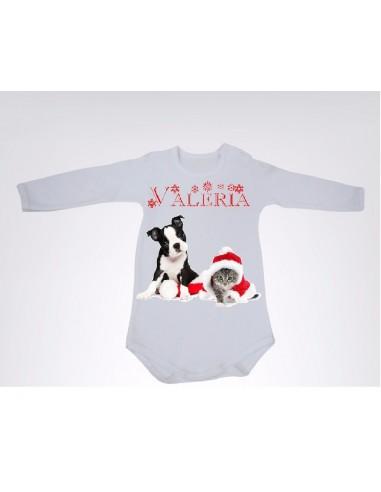 Body personalizado Cachorros Navidad