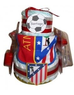 Tarta de pañales Atlético de Madrid Grande