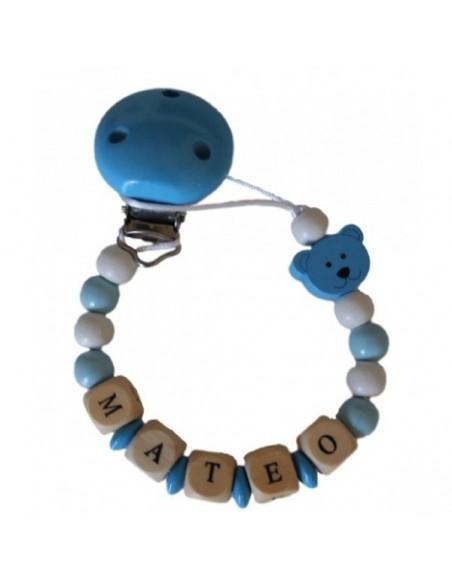 Chupetero personalizado Osito Azul
