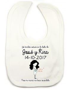 Babero boda embarazada