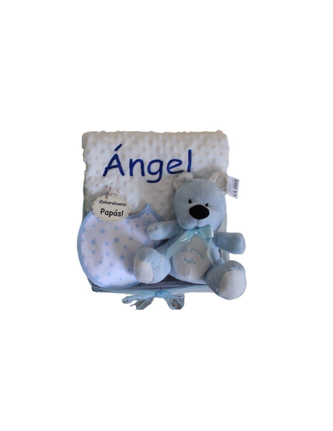 6de456069db Canastilla Little Angel. Preciosa canastilla personalizada con el nombre  del bebé. Un regalo de ...