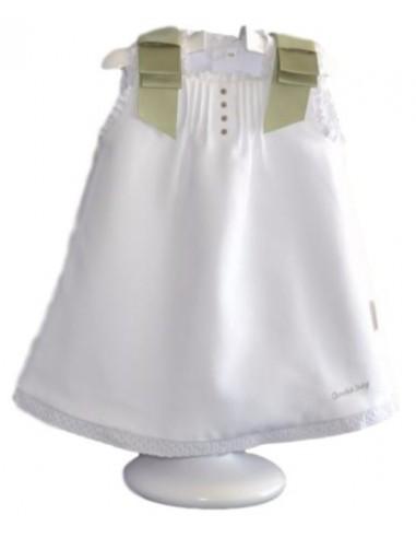 Vestido bordado con bodoques de Chocolat Baby