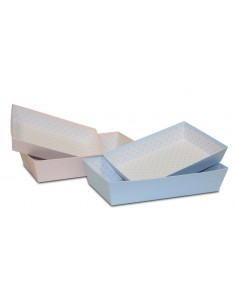 Bandeja de cartón rosa o azul