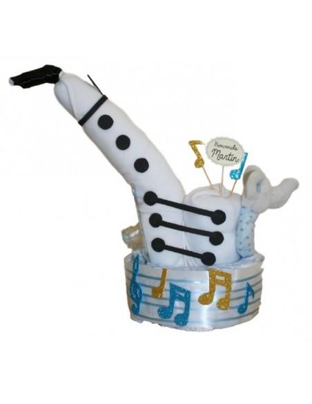 Tarta de pañales Saxofón