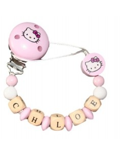 Chupetero personalizado Hello Kitty