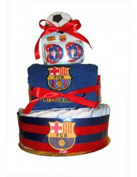 Tarta de pañales Barça