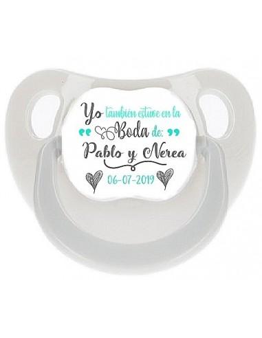 Chupete personalizado boda Valentine