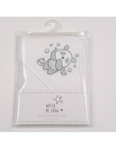 Capa de baño osito panda blanca