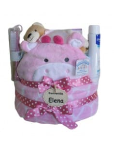 Teddy nappies cake