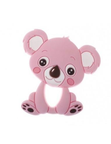 Mordedor de silicona Koala rosa