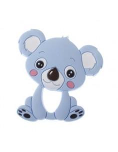 Mordedor de silicona Koala azul