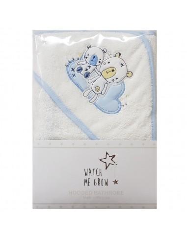 Capa de baño oso azul