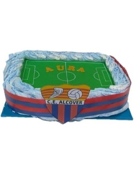 Tarta pañales Estadio Fútbol