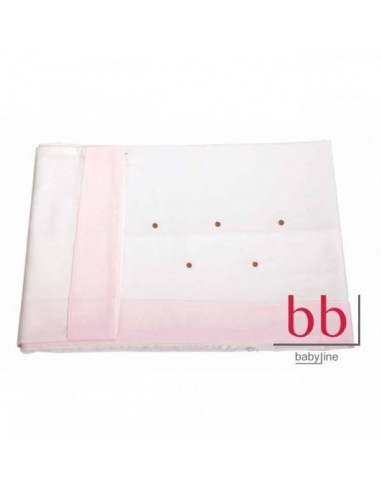 Juego de sábanas de 70 x 140 Lucía choco rosa