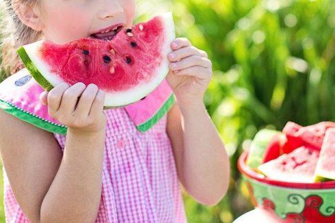 alimentación de los niños en verano